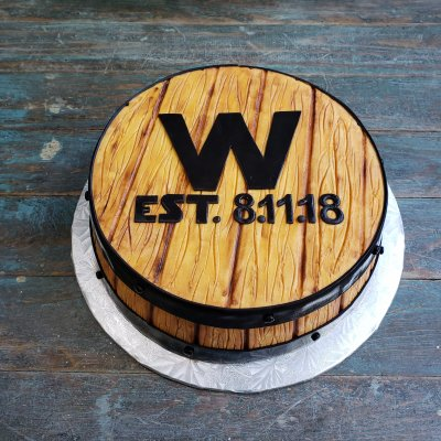 Bourbon Barrel Groom's cake