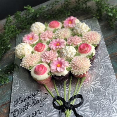 Flower Bouquet Cupcake Cake $115