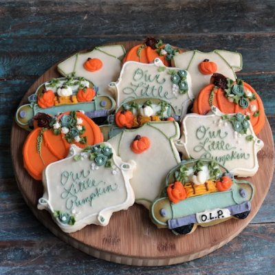 Our little Pumpkin Cookie Set $57/dozen