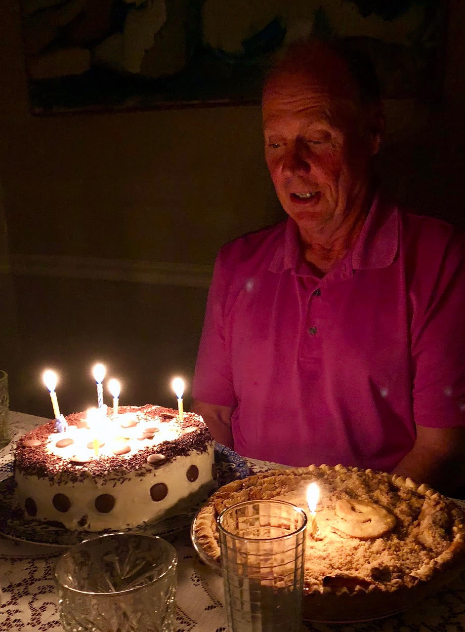 Chuck with Birthday Cake and Pie