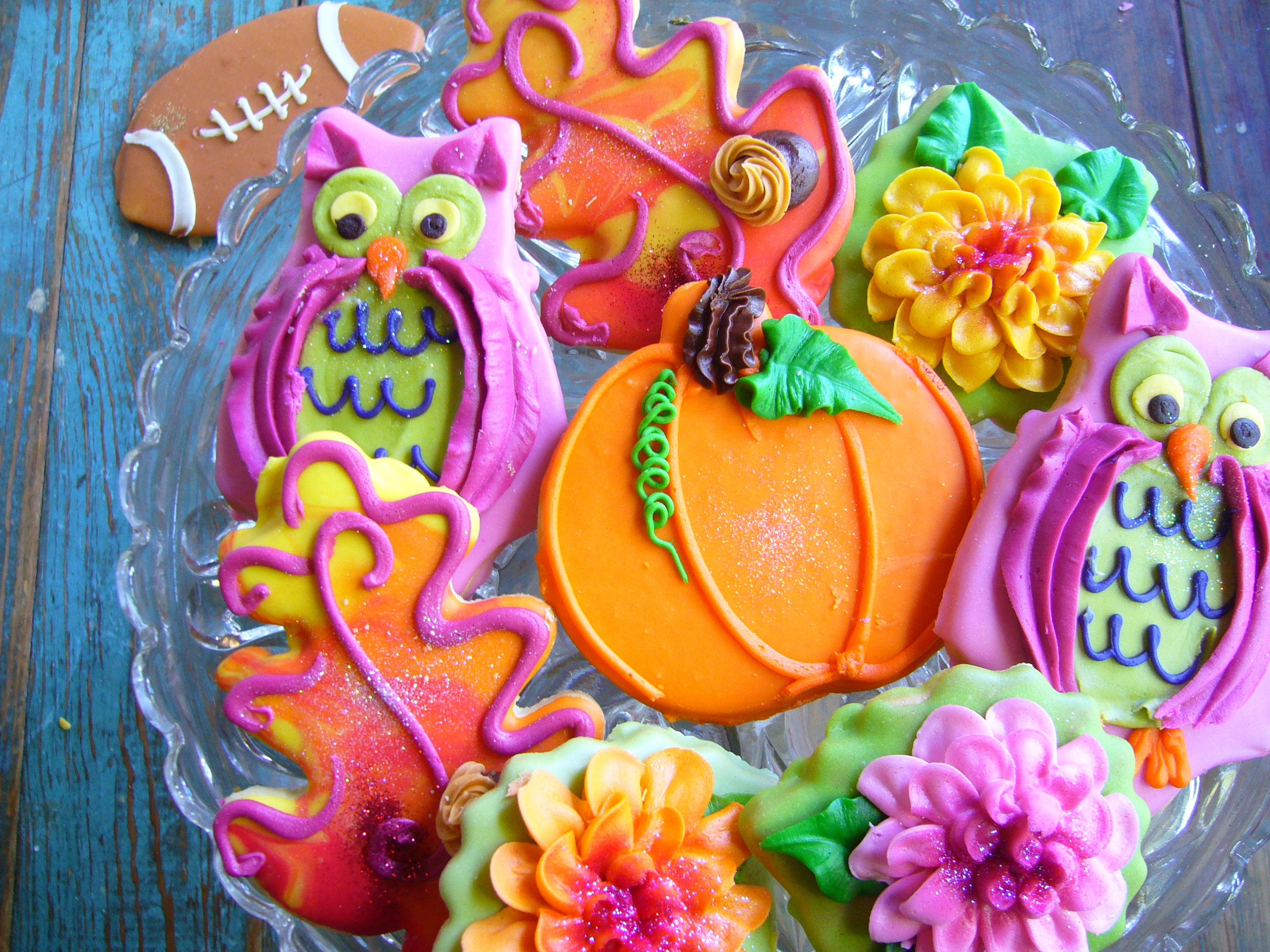 Fall collage cookies
