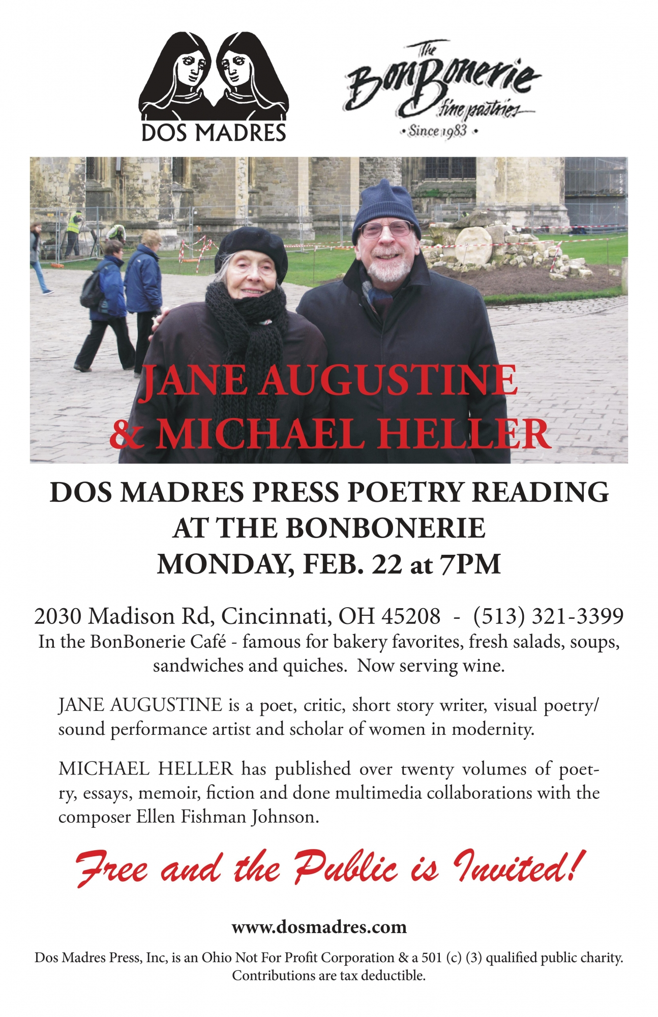 Poetry Reading Feb 22 in our Cafe